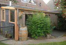 Douglas houten maatwerk veranda's met glasdaken. www.uwverandaspecialist.nl / Het hele jaar door genieten van het buitenleven. www.uwverandaspecialist.nl