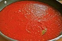 Sauces / sauce recipes | tomato sauce | pizza sauce | marinara | alfredo sauce | pesto recipes | clam sauce | meat sauce | bechamel | vodka sauce | roasted red pepper sauce | peanut sauce | pasta sauce | enchilada sauce | BBQ sauce recipes | BBQ sauce