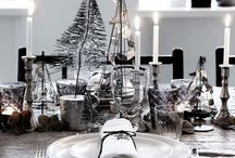 - Christmas table decorations -