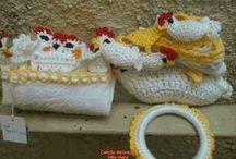 cozinha com crochet