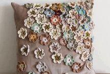 Almofadas de Tricot e Crochet