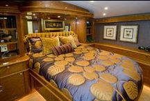 Stateroom / Bedroom / A bedroom, on a boat or off, should be a relaxing space for everyone. Working with a number of fabrics and designs, we will work to create a room that's a comfortable oasis on your boat.