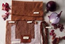 Mordants in Natural Dyeing... / An overview of the use of mordants in dyeing with natural materials and some examples of how the colours change!
