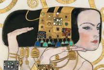 artist: GUSTAV KLIMT 1862-1918 / Love his paintings