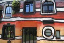 HUNDERTWASSER archtitecture / Hundertwasser's architecture has a lot in common with that of Gaudi specially the colorful mosaics.