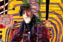 artist: HUNDERTWASSER 1928-2000 / Great use of vibrant colour and repeated use of certain design elements. His paintings are even more striking than his architecture.
