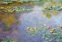artist: CLAUDE MONET 1840-1926 / Such a pity the colors have either faded or become distorted in the reproductions.