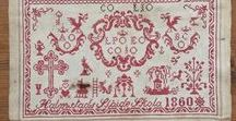 EMBROIDERY TRADITIONAL  SAMPLERS / Historical and modern cross stitch Samplers
