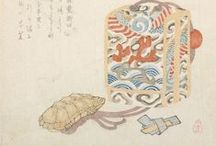 Sagemono Drawings, Designs & Prints / Images of inro, netsuke, and other sagemono in drawings.  Designs of sagemono