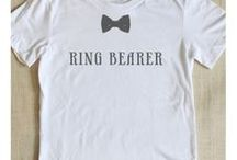 Gifts for the Wedding Party... / From the Ring Bearer to the Mother of the bride - shirts are a great gift that can be used over and over again!