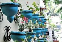 Outdoor Home Decor / Yard art, pottery, and decorations for the exterior of your home.