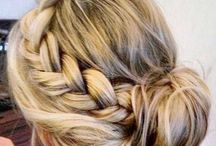 Wedding hairstyles / Here are some up and down hairstyles for weddings that are nice and easy.