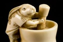 Happy Spring Equinox & Easter! / Netsuke of rabbits and other animals of the spring equinox celebrations