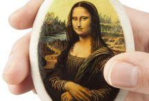 MundiArte. Museo de Arte en miniatura sobre piedras / Oleos sobre piedras