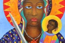 Erzulie Dantor, Haitian Voodoo Petro Lwa / Erzulie Dantor pictures, the great Lwa (Loa) of Haitian and New Orleans voodoo. Voodoo art. Black Madonna Erzulie Grand Erzulie