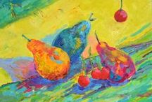 Still life oil painting, kitchen paintings / Still life oil painting, kitchen paintings, kitchen wall art