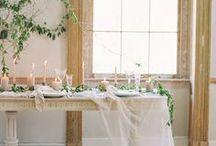 r e c e p t i o n / Classic and elegant reception ideas for the fine art bride