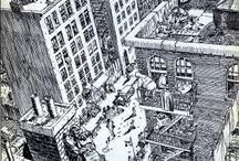 architecture/city in comics