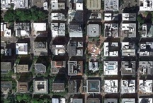 stadspatronen en luchtfoto's