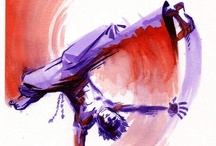 Capoeira Art / A compilation of interesting, beautiful paintings and drawings of Capoeira in the world wide web. / by anuvito