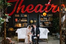 Theatrical Dream Events / Dramatic flair in fashion, furnishings, lighting, and decor borrowing from vintage and magic influences of the theater, cinema and literature with touches of gold and silver amidst black, white and red.