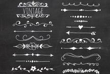 chalkboard text dividers.