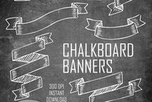 chalkboard banners.