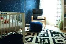 """Alex & Aaron's Nursery Inspiration / The pins here were where we started after talking to Alex and Aaron about their ideas for their baby nursery.  The design morphed into a sweeter, more female focused """"space"""" theme."""