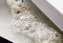 Bridal Garters / The finishing touch to your wedding outfit. Small, intricate and beautiful.