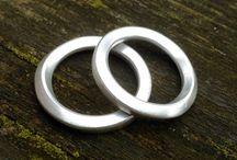 Mobius square section ring with 90 degree twist - Sterling silver