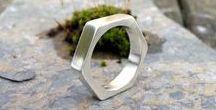 Men's hex nut ring