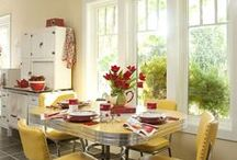 chrome kitchen dinette table and chairs / by Lucille Guay