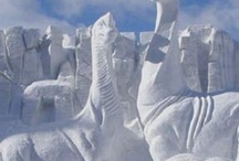 Snow and Ice Sculptures /  Beautiful !