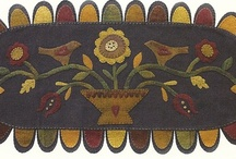 Penny rugs and wool appliqué  / by Adele