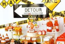 Construction Party Ideas / Inspiration board for your next Construction Birthday Party. Construction Invitations | Construction Printables | Construction Cakes | Construction Decorations  Party Foods  | Favors | Party Games Visit us online for more party ideas at www.PinkPickleStudios.com and www.etsy.com/shop/PinkPickleParties