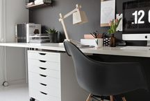 work space / Collaborative office space design and personal work space ideas.