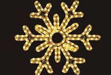 """LED Stars & Snowflakes / Holiday Lights features beautifully lit LED """"Stars of Bethlehem"""" and Moravian Stars. They're perfect for hanging on homes, businesses and Churches. They make a great accent to your Nativity Scene. Also checkout our pole mounted snowflakes at holidaylights.com."""
