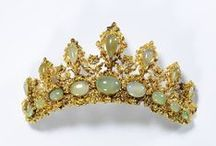 Fashion | Crowns and Diadems / Crown is a special headgear usually worn - in many civilizations around the world - by a designeted ruler. Made of precious metals and often decorated with precious stones, it represents power, glory, immortality, royalty and sovereignty. Learn more about crowns on Europeana Fashion blog: http://bit.ly/1ZYUCLu