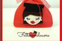 bomboniere laurea  / I LIKE RED ! DESIGN BY FATTOCONILCUORE my shop  http://www.misshobby.com/fattoconilcuore