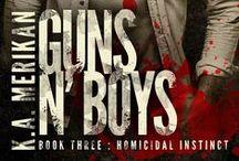 Guns n' Boys by K.A. Merikan / Images which make me think of stuff for Guns n' Boys :) http://kamerikan.com/guns-n-boys