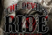 The Devil's Ride (Sex & Mayhem #2) by K.A. Merikan / Board of inspiration for Road of No Return, a gay outlaw biker dark romance :) http://kamerikan.com by K.A. Merikan / by Kat Merikan