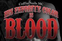His Favorite Color Is Blood by K.A. Merikan (Sex&Mayhem #8)