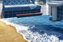 3D Floor Decals Wall Murals / Waterproof Floor Decals
