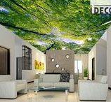 3D Ceiling Design Decals Wallpaper / Ceiling Wall Murals/Wallpaper
