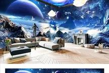 Entire Living room wallpaper