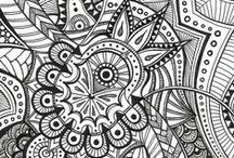 "ZEN tangles / Tangled Art   ""The Zentangle Method is an easy to learn, fun and relaxing way to create beautiful images by drawing structured patterns.""   ...Because, I was used to do this during my long studies hours."