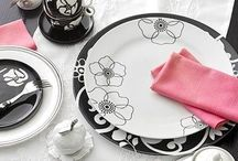 Black and White Dishes / Everything looks good in Black and White / by Pink About it