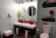 The big bathroom reveal: Lower level spa bathroom / Modern bathroom with an Asian nautical flare. This is my design and now my guest bathroom.