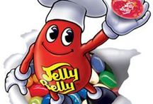 Jelly Belly / We carry almost all 50 Jelly Belly Flavors plus many of their other quality items.  See the board!