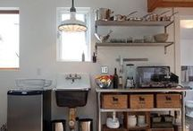 Downstairs kitchen ideas / Downstairs kitchen- touch of old nautical, a little shabby, a little modern. Too much? We'll see.